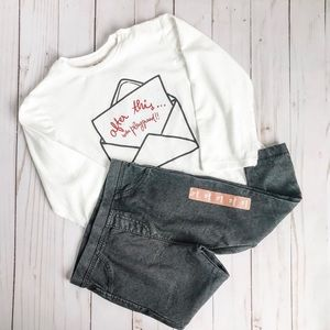 🆕 Zara Baby Long Sleeve Tee & Jeggings Bundle